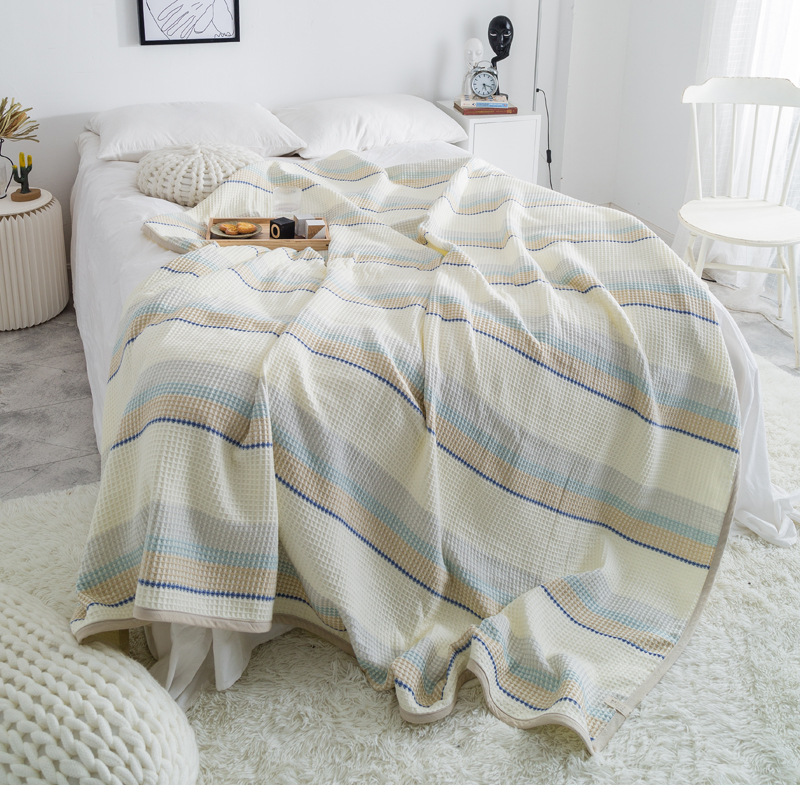 Stripe Blanket Throw Quilts 95 Cotton