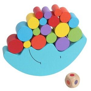 Image 2 - 1 세트 아기 어린이 장난감 문 균형 게임 및 게임 장난감 2 4 세 소녀 & 소년 (파란색)