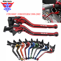 Mix Color Long CNC Adjustable Motorcycle Brake Clutch Levers For Honda VTR1000F/FIRESTORM 1998 2005 VTR1000 F 2004 2003 2002