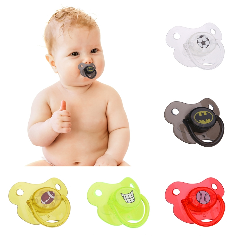 2017New Cute  Infant Dummy Pacifier Silicone Smoother Nipple Teether Joke Prank New 5Styles