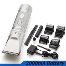 professional hair trimmer 2000mA lithium battery titanium ceramic blade Rechargeable Hair Clipper hair cutting machine