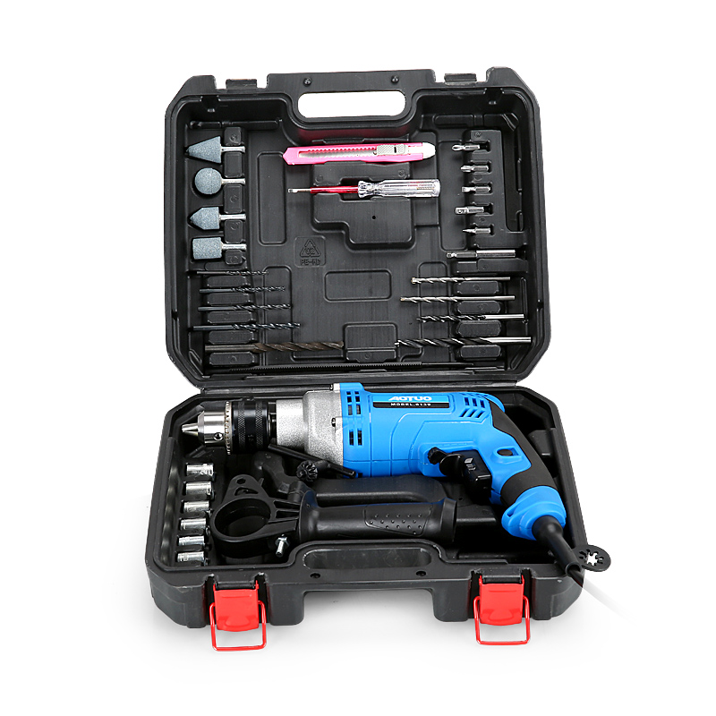 AOTUO new multi function impact drill household electric drill screwdriver multi function set power tools wholesale - 6