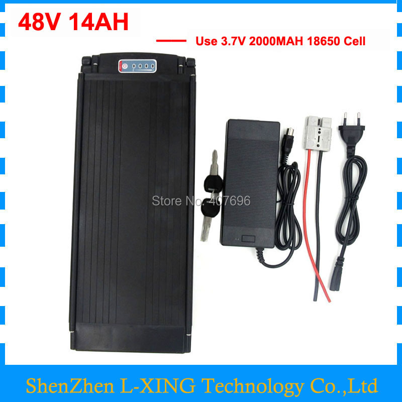 48V 14AH electric bicycle battery 48V Rear Rack battery 750W ebike lithium ion battery with Tail light 20A BMS 54.6v 2A charger 48v 750w lithium ion battery 9ah battery fro g typ rear battery pack 48v electric bicycle 48v 8fun bbs02 battery