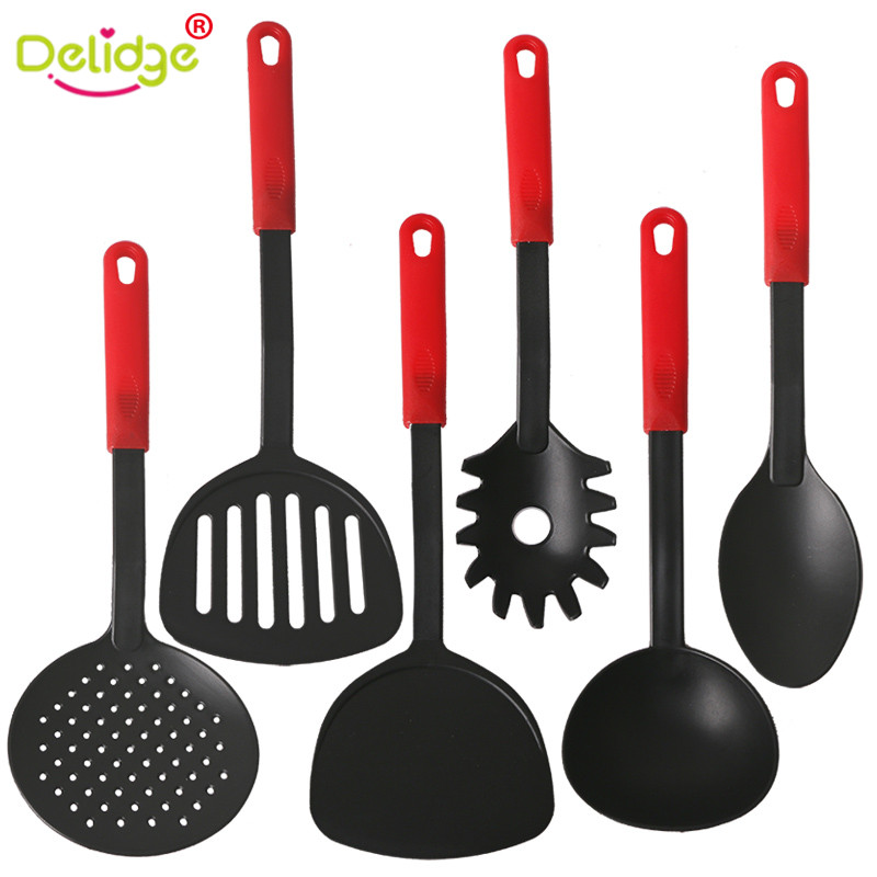 6 pcs set cooking tool set food grade nylon non stick for Kitchen tool set of 6pcs sj