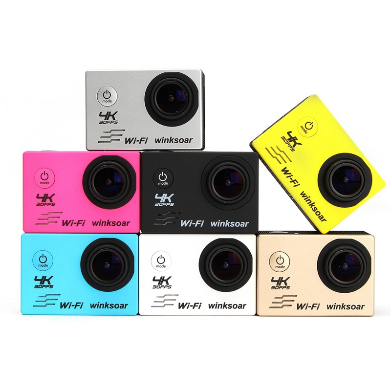 Waterproof 2.0'' LCD Ultra 4K 120 Degree Wide Angle Lens WiFi Sports Action DV Camera With Full Set Accessories For Gift Outdoor