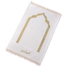 도매 70*110cm 캐시미어 같은 얇은 이슬람 이슬람기도 매트 깔개 salat musallah tapis 카펫 banheiro 이슬람기도 매트