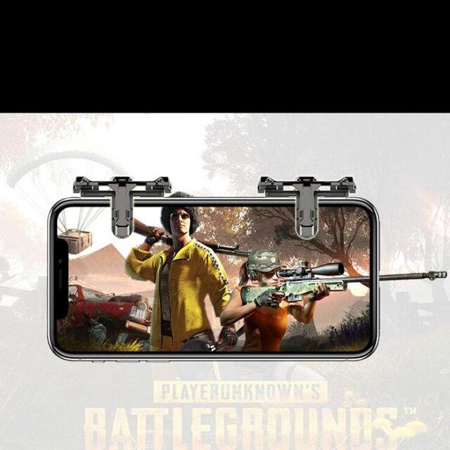 1 paar Metalen Telefoon Game Pad PUBG Mobiele Mobiel Game Controller Schieten Trigger Game Joy Stick voor IOS Android