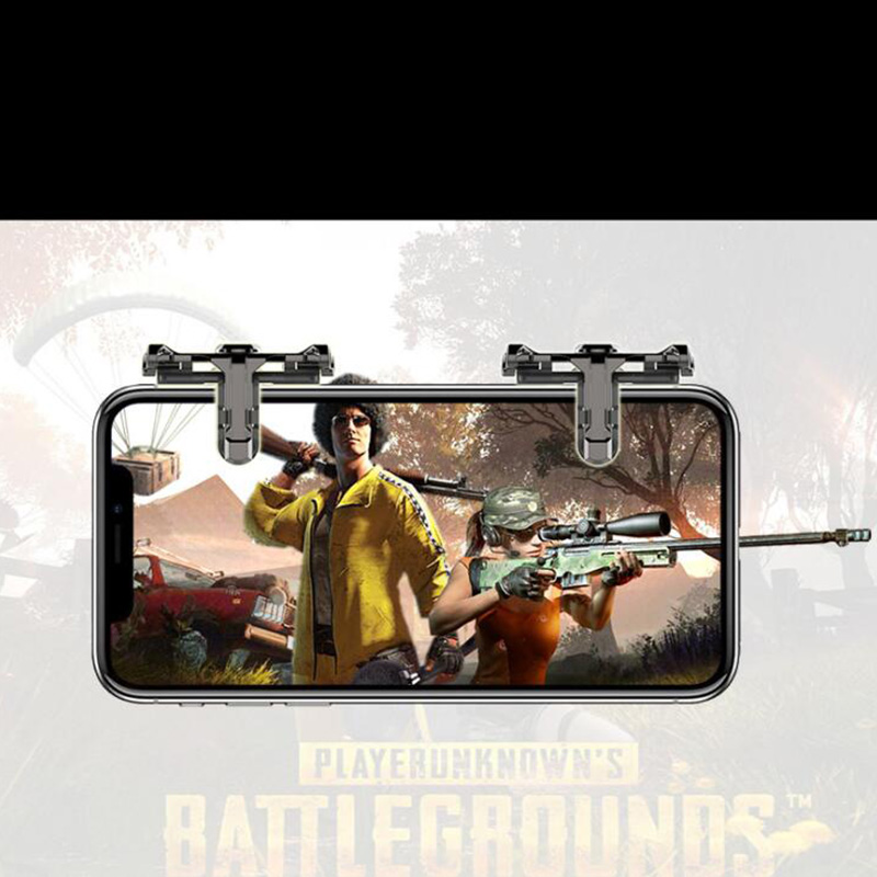 1Pair Metal Phone Game Pad PUBG Mobile Cellphone Game Controller Shooting Trigger Game Joy Stick for IOS Android-in Gamepads from Consumer Electronics