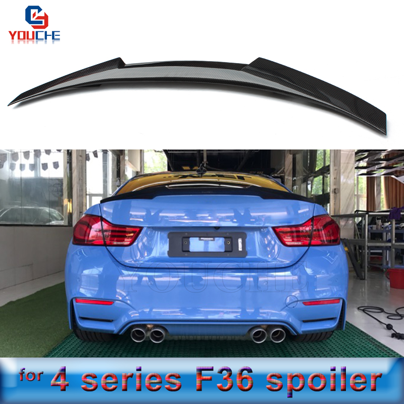 F36 Carbon Fiber Rear Spoiler Wing For BMW 4 Series 4 door Sedan 2014 present 418d