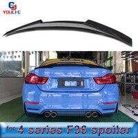 F36 Carbon Fiber Rear Spoiler Wing For BMW 4 Series 4 door Sedan 2014 present 418d 420i 428i 430i