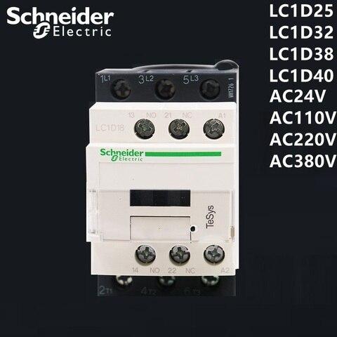 schneider ac contator lc1d25 lc1d32 bc7 f7c m7c q7c 24 v 110 v 220 v