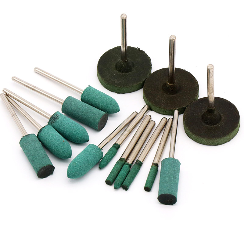 5 Pcs 2.35/3.0mm Shank Rubber Grinding Head For Mould Finish Polish Dremel Die Grinder Rotary Tools