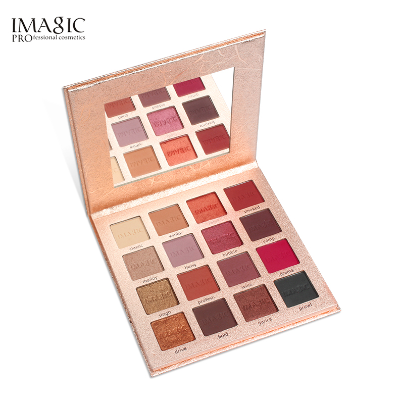 IMAGIC Eye Shadow  16 Colors Pressed Eyeshadow Matte Shimmer Palette Glitters Eyeshadow  Palette eye shadow