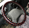 New Genuine Artical leather Black Football Pattern Steering wheel covers Hubs TPE Ring Car Truck Interior Accessories 38cm 50cm