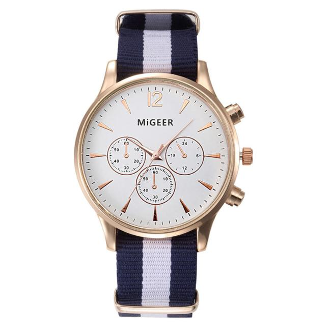 Dropship Migeer Brand Luxury Fashion Black & White Strap Watch Men Quartz Watch Casual Males Sport Business Wrist Men Watches the oldest dead white euroean males and