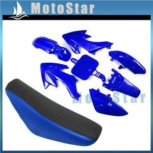 Blue Plastic Fairing Body Kits + Tall Foam Seat For Honda CRF50 XR50 50cc-160cc Chinese Made SSR Atomik Thumpstar Pit Dirt Bike(China)