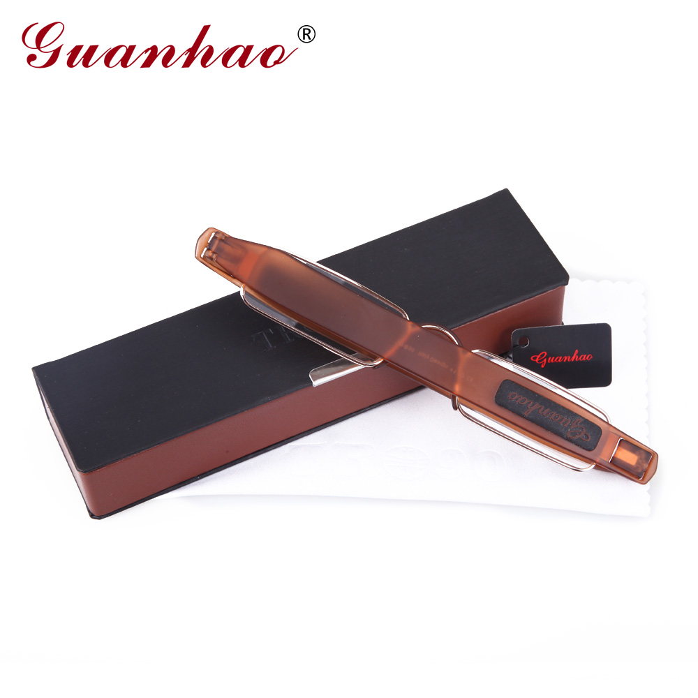 Guanhao Brand Retro Portable Reading Glasses Rotating TR90 Resin - Apparel Accessories - Photo 6