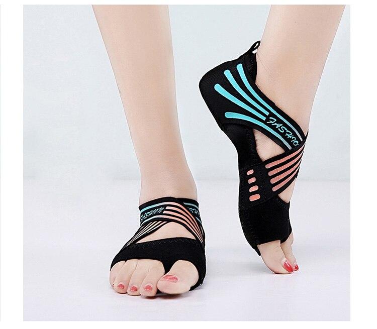 Fitness & Bodybuilding Frauen Nicht-slip Fitness Dance Pilates Socken Professionelle Innen Halb Zeh Yoga Schuhe Neopren Pilates Ballett Tanzen Socken