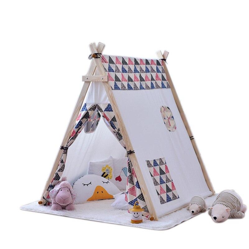 Coréen coton tente enfants surdimensionné jouet maison tente enfants tente facile démontage et lavage Structure en bois tente