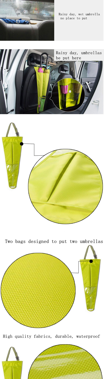 Car Seat Back Waterproof Cover Bag for Hanging Wet Umbrella