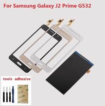 все цены на For Samsung Galaxy Grand J2 Prime SM-G532F G532H G532H/DS Touch Screen Digitizer Sensor + LCD Display Screen + Adhesive + Kits онлайн