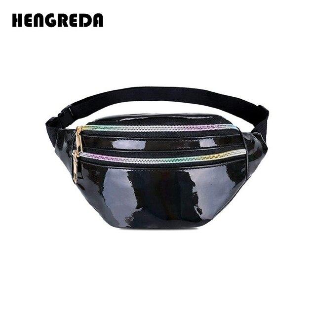 a1c0b294b2 2018 Holographic Women Fanny Pack Belt Bag Shiny Neon Laser Hologram Waist  Bags Travel Shoulder Bag Party Rave Hip Bum Bag