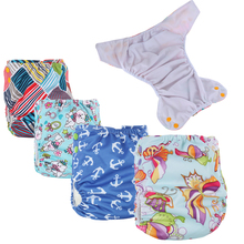 Reusable diapers for baby waterproof pul fabric cloth diapers baby reusable nappies with colored snaps suit