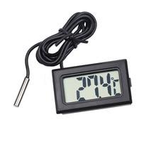 1 шт. Мини ЖК-дисплей Автомобильный цифровой термометр внутренний наружный датчик температуры измерительный прибор