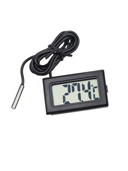 1PC Mini LCD samochód cyfrowy termometr kryty temperatura zewnętrzna czujnik Gauge Instruments tanie i dobre opinie Piezoelektryczny Czujnik Temperatury transmisji W Air Flow Meter Household Standing Station Temperature Sensor Button Battery
