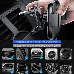 Image 4 - Baseus אלחוטי לרכב מטען עבור iPhone Xs Max Xr X סמסונג S10 S9 אנדרואיד טלפון מטען מהיר Wirless טעינה לרכב טלפון בעל