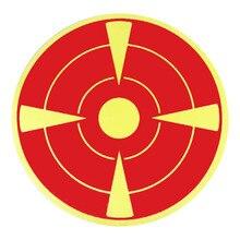 Mega Pack 3 Inch Bullseye Splatter Repair Target Stickers Neon Orange Self Adhesive Targets for