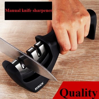 1Pcs Manual Knife Sharpener Kitchen Gadgets Multifunction Fast Household Steel Too Utensils Cooking Superior Quality Black