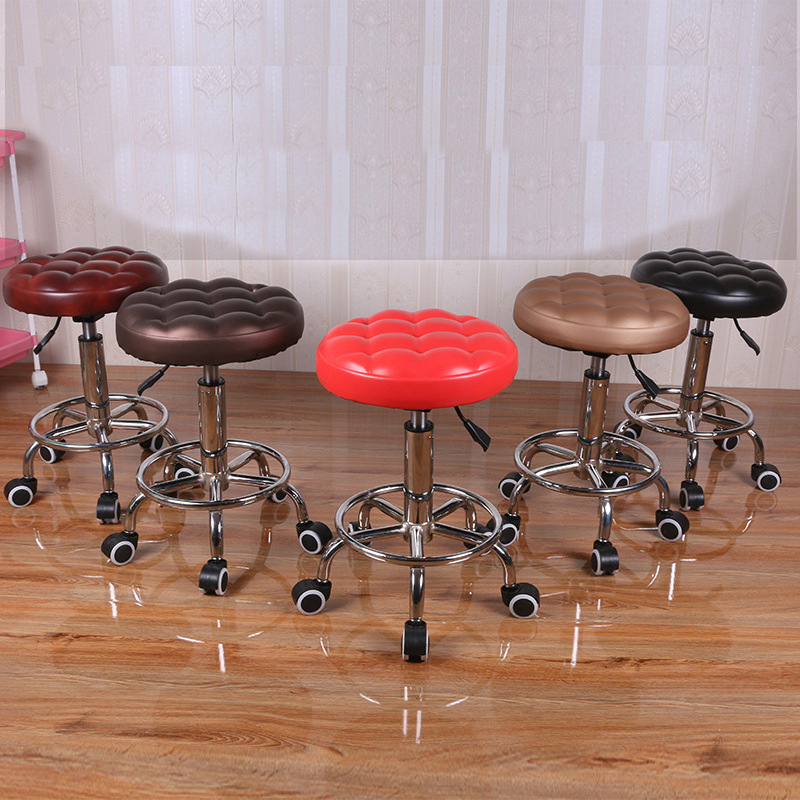 Lifting Small Stool Simple Bar Chairs Rotation Stool Laboratory Chair Workbench Workshop Chair