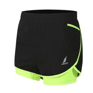 Image 2 - Мужские шорты для марафона и бега 2 в 1, шорты для спортзала, шорты для спортзала, короткие спортивные велосипедные шорты с длинной подкладкой, большие размеры