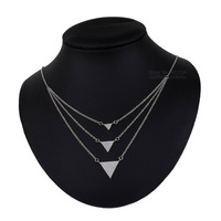 Sterling Silver Necklace Fashion Women Necklace Jewelry Silver 925 Pendant Necklace Chocker Statement Cable Chain Necklaces