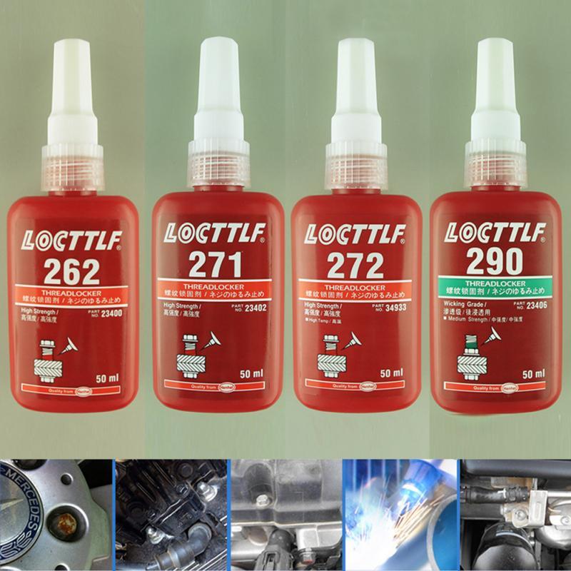 262, 271, 272, 290 50 ML Cylindrical Retainer Locking Adhesive Metal Screw Anaerobic Adhesive Thermal Strength Environment Glue