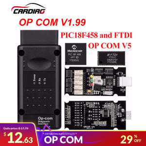 op com V1.65 V1.78 V1.99 with PIC18F458 FTDI op-com OBD2 Auto Diagnostic tool for