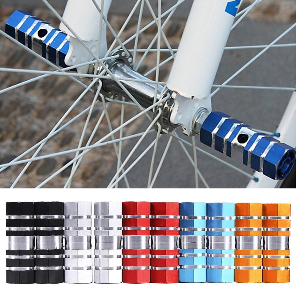 """1Pairs Axle 0.9/"""" Cycling BMX Bicycle MTB Foot Pegs Aluminum Rest Holder Pegs Set"""