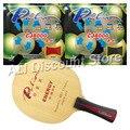 Palio ENERGY 03 Blade с 2 резиновыми ракетами CJ8000  для настольного тенниса  комбинированная ракетка FL