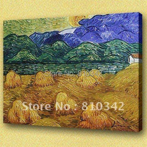 Картины маслом Ван Гога(кукурузное поле) Современное искусство офисное масло живописный орнамент картины U2VG19