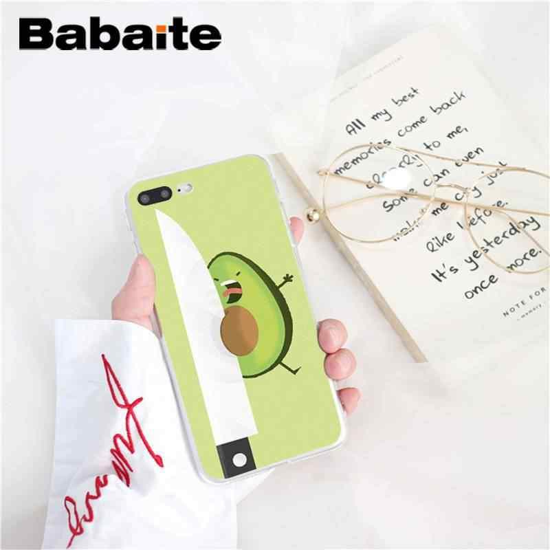 Babaiteアボカドカバーソフトシェル電話ケースiphone 8 7 6 6sプラス 5 5s、se xr x xs最大 10 11 11pro 11 プロマックスcoqueシェル