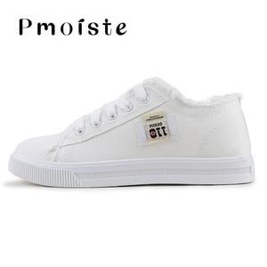 Image 4 - Chaussures en toile pour femmes, baskets de printemps automne 2020 en Denim solide bleu/nouveauté, à la mode