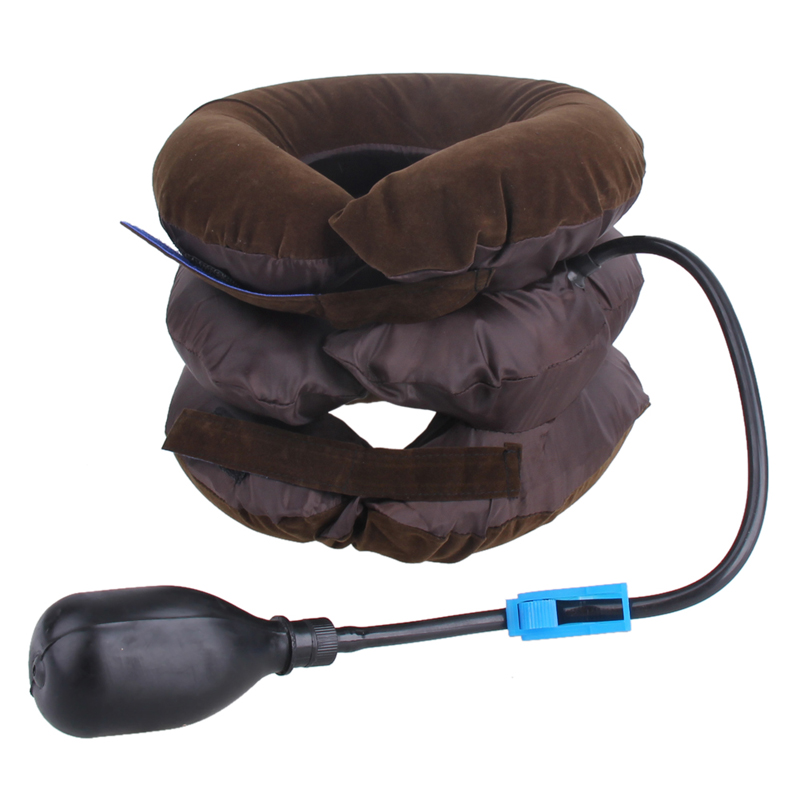 Inflatable Air Cervical Neck Traction Device Soft Head Back Shoulder Neck Ache Massager Headache Pain Relieve Relaxation Brace 13