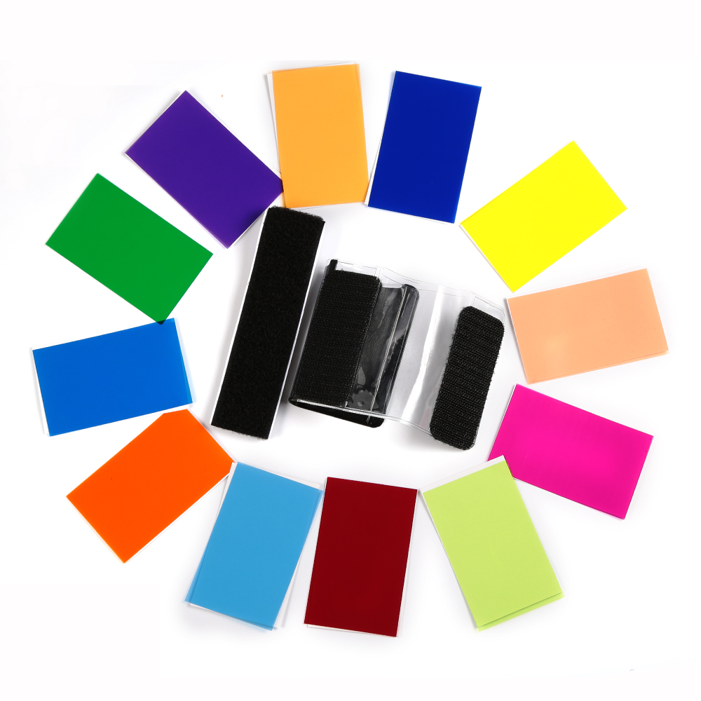 12 Color Filter For Universal camera flash (3)
