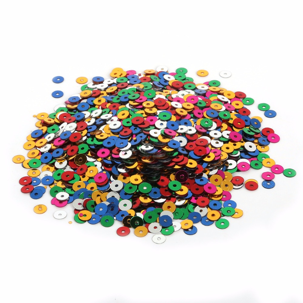 craft wedding ideas mix color 4 6mm 1700 4000pcs sequin for clothing 1700