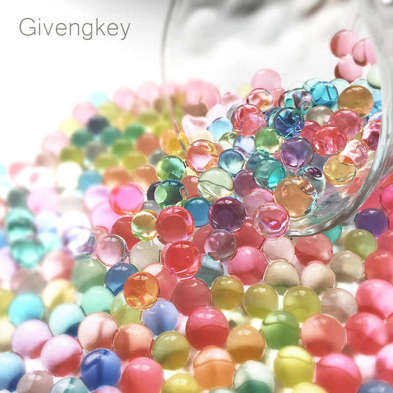 7000pcs/bag Orbeez Water hydrogel beads Bullets Guns Paintball Bullets balls Gun Toy crystal soil decorative water gel beads