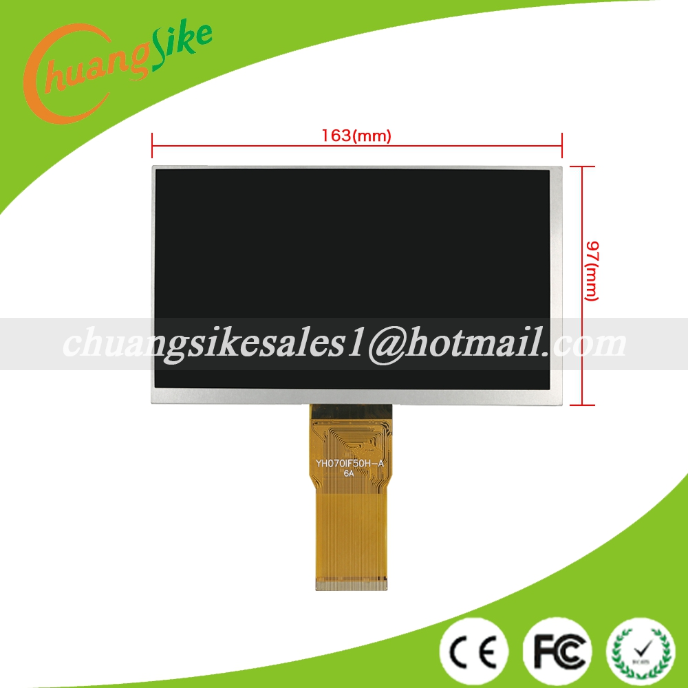 A+ 7 inch YH070IF50H-A LCD Display Matrix TABLET YH070IF50H-A 163*97mm TFT LCD Display Screen Panel