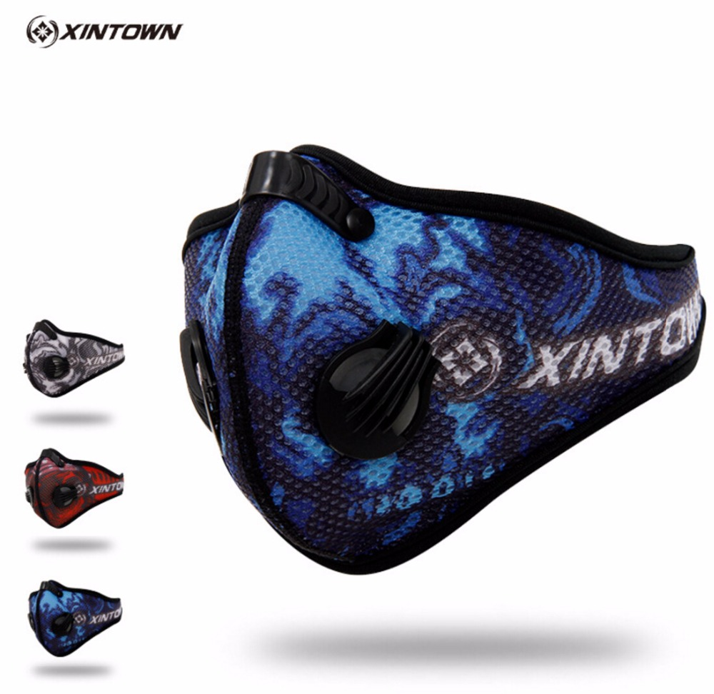 XINTOWN Men/Women Activated Carbon Dustproof Cycling Face Mask Anti-Pollution Bicycle Bike Outdoor Training mask face shield CM3
