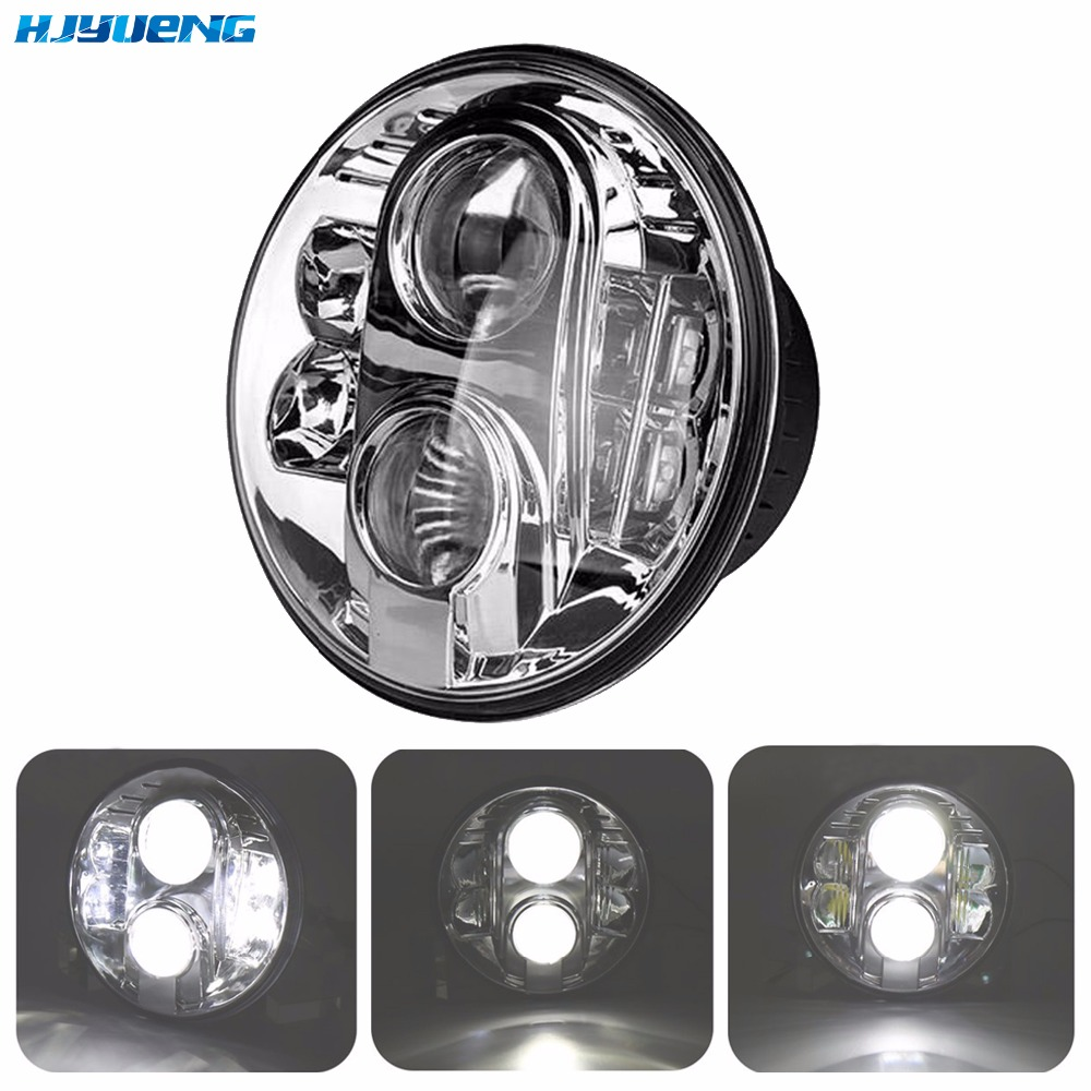 80W 7Inch Headlight For Jeep Wrangler JK CJ TJ accessories LED head lamp Hi/Lo 7 led headlight for motorcycle Harley Land Rover dot e9 black 7 led headlight motorcycle front driving lighting with hi lo beam headlamp for harley touring jeep wrangler jk
