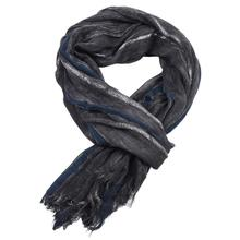 190CM*95CM Mens Scarves Cotton Linen striped Solid Long Scarf Skinny Soft Warm Shawl Spring Autumn Winter skinny Woven Wrinkle